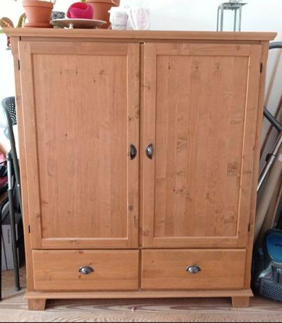 Szafka telewizyjna komoda Ikea z szufladami i dużą pojemną skrzynią