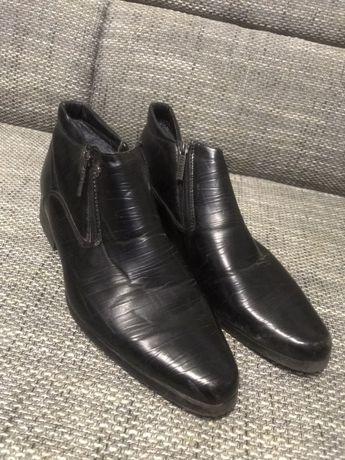 Туфли ботинки на меху мужские