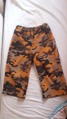 Камуфляжные штаны флисовые 1-3 года