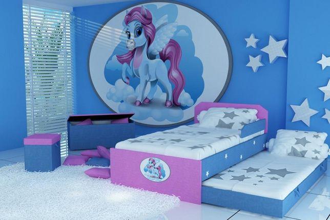 Piętrowe łóżko dla dzieci, łóżko dziecięce, łóżko tapicerowane
