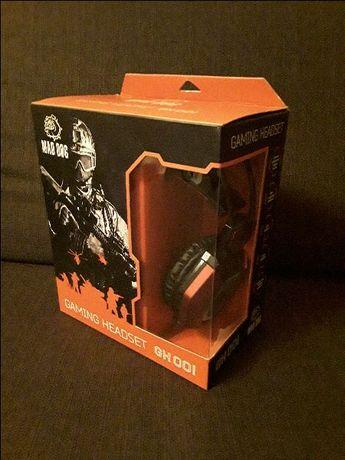 Słuchawki gamingowe Mad Dog GH001 jak nowe