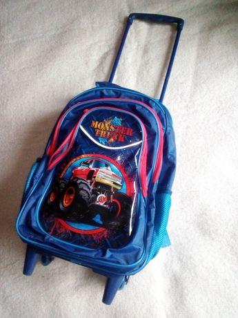 Walizka plecak szkolny Monster Truck terenówka nowy.