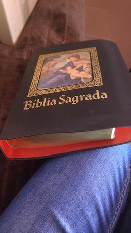 Bíblia Sagrada antiga  está  como nova e rara