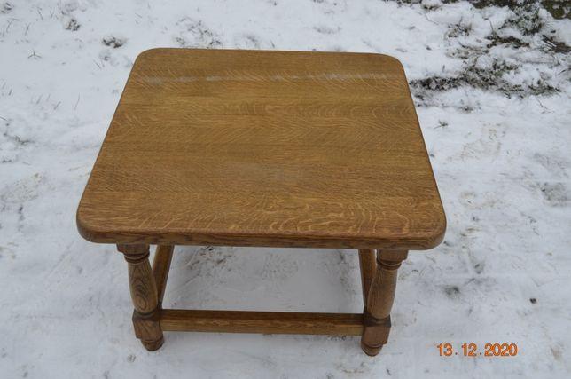 Kwadratowy stolik ława dębowa