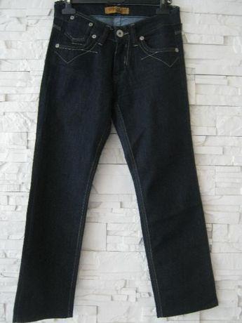 spodnie jeansy niebieskie S 36 okazja tanio nowe granatowe vintage