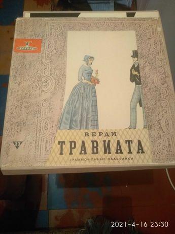 Граммофонные пластинки Верди Травиата 1962 гол