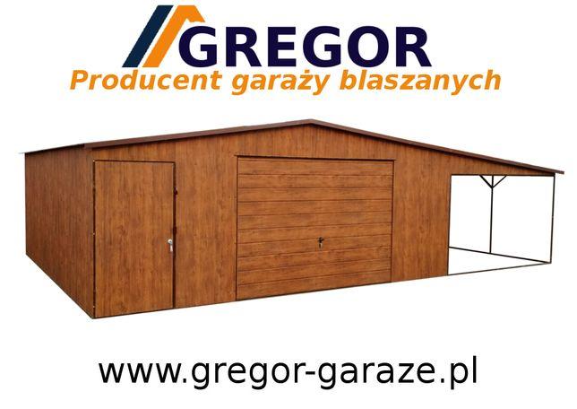 Garaż blaszany blaszak złoty dąb orzech kolor Ral 6x5 wiata Producent