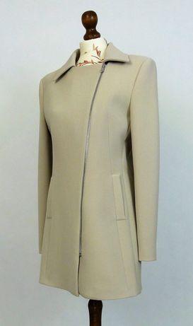 Nowy płaszcz bezowy na zamek roz.42