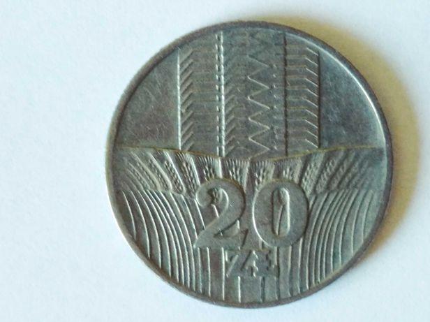 Oferuję monetę 20 złotych polskich z 1974 rok w stanie dobrym