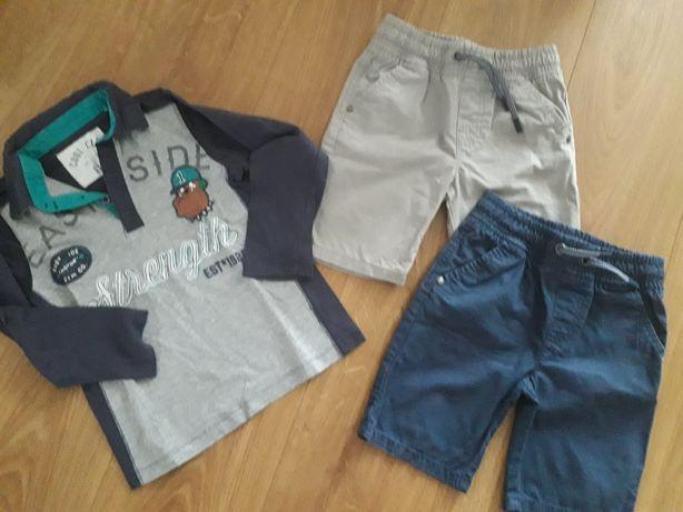 Zestaw 2x spodenki bluzka cool club f&f 110 4-5l