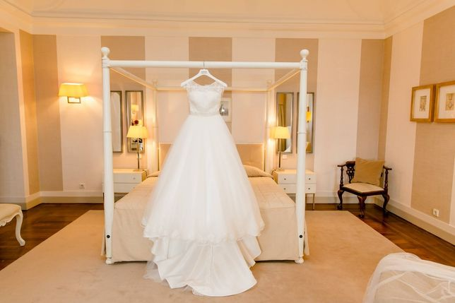 Vestido Noiva Rosa Clará - tamanho S