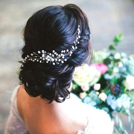 Grzebyk ślubny, ozdoba ślubna, ozdoba do włosów