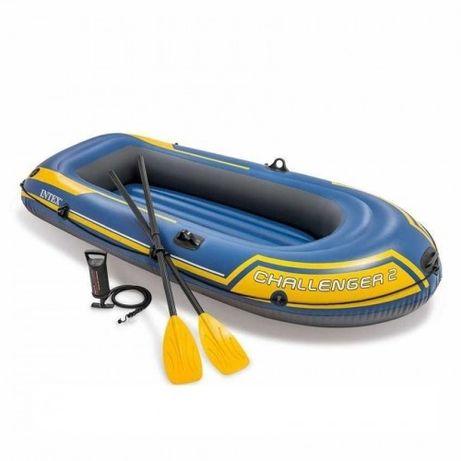 Надувная лодка Intex 236х114х41 см Challenger 2 с веслами и насосом