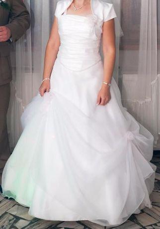 Piękna Śnieżnobiała suknia ślubna 36,38,40