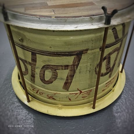 Mesa Apoio Tambor Drum Table Metal - by OVO Home Design