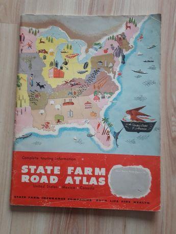 Atlas dróg Ameryki  Meksyku i Kanady.