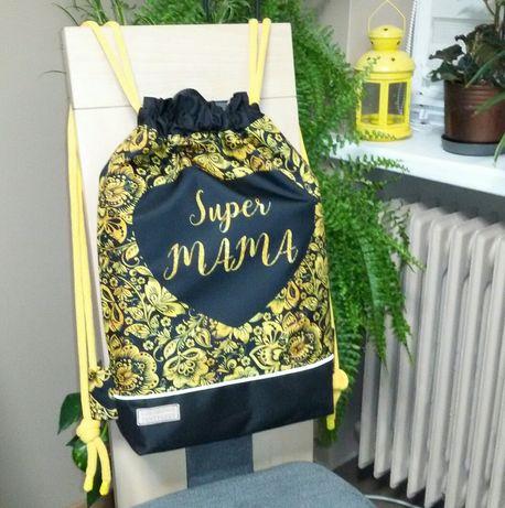"Worko-plecak dwustronny "" Super Moc "" wodoodporny handmade"