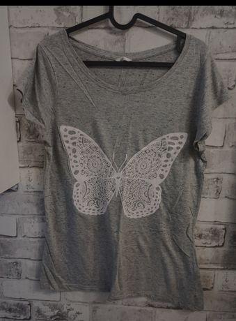 Szara bluzka z motylkiem