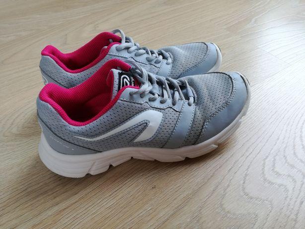 Buty sportowe 36 Kalenji Oxylane Decathlon szare różow adidasy szkolne