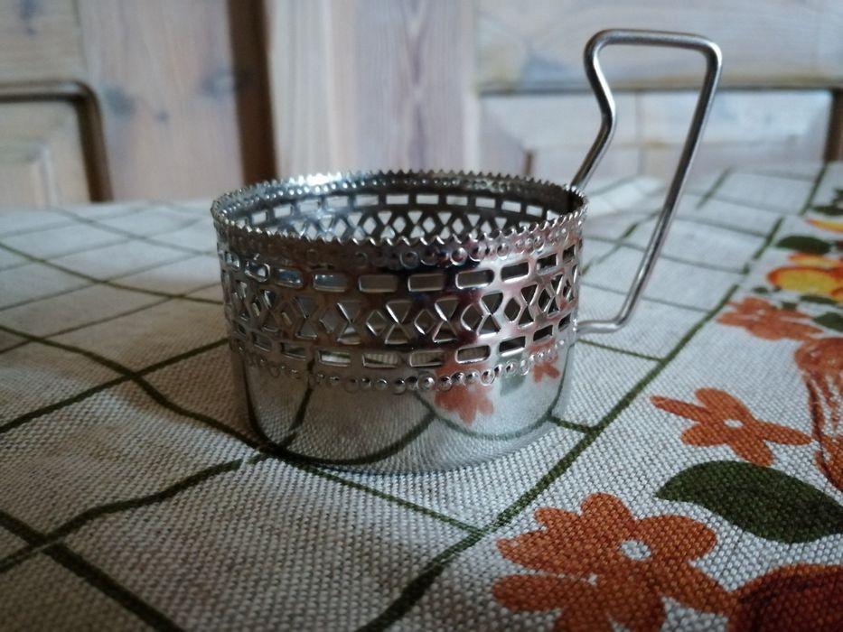 Metalowe koszyczki na szklanki PRL Jaworzno - image 1