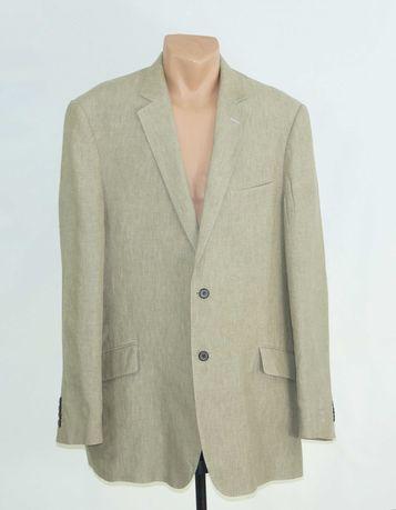 100% льон світло сірий костюм весільний size 46 R by JOHN LEWIS