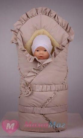 Меховой конверт-одеяло Пасторель