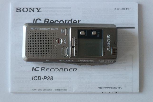 Sony ICD-P28 Digital Voice Recorder dyktafon