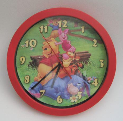 Zegar ścienny do pokoju dziecięcego Kubuś i Przyjaciele