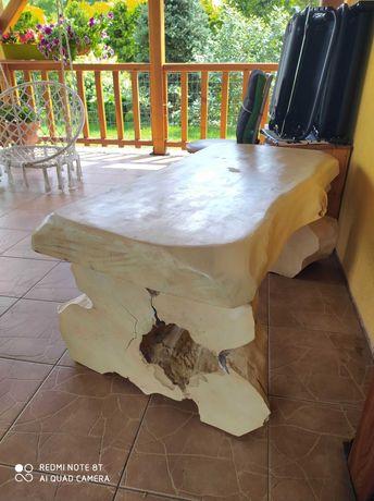 Stolik kawowy z drzewa, drewniany