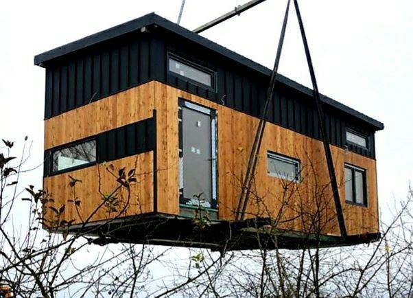 Mobilny Domek, Domki Modułowe 35m² + 18,3m² Antresola / Balkon