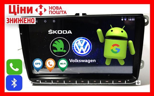 Автомагнитола андроид android 8.1 Pioneer PI-907 2 дин Volkswagen VW P