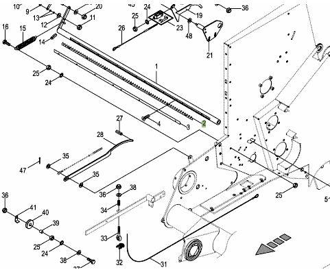 Grzebień ząbkowany Krone aparatu siatki 200605.611 Comprima prasa
