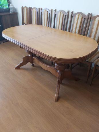 SPRZEDAM Stół owalny rozkladany+ krzesła 8szt