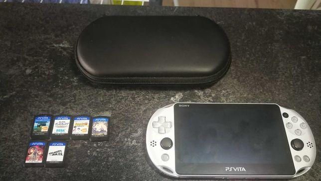 Konsola Sony PS Vita + 6 gier w j. Japońskim