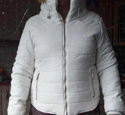 Kurtka biała zimowa  k.zell L