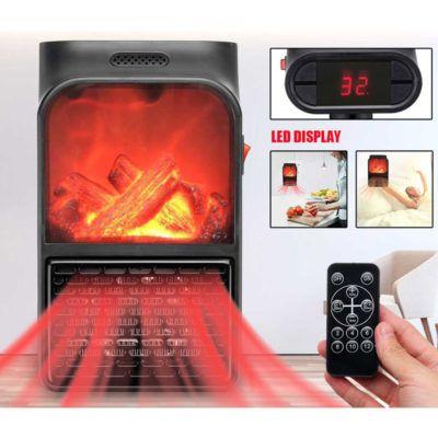 Портативний обігрівач з LCD-дисплеєм Flame Heater