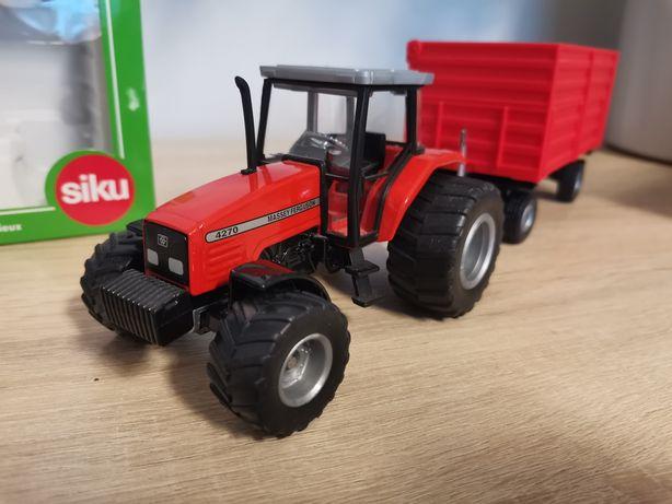Siku 1:32 Traktor Massey Ferguson 4270 + przyczepa (2654 + 2898)