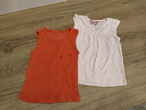Koszulki bluzeczki dla dziewczynki zestaw 9-12 mscy rozmiar 80-86