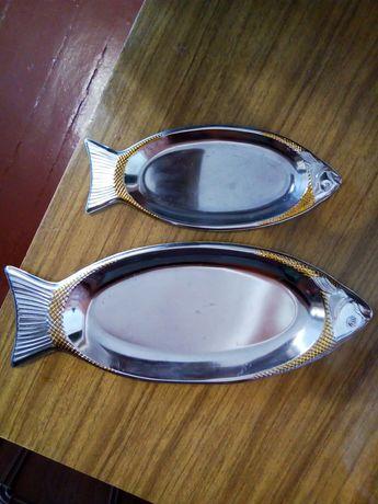 Тарелки, блюдо, рыбки