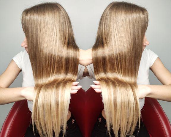Выравнивание волос кератином Luxliss prof люкслис ботокс нанопластика