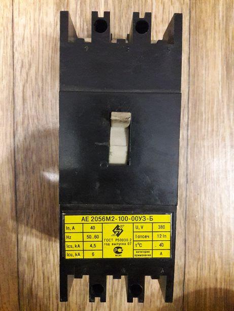 Автоматический выключатель АЕ-2056М2-100-00У3-Б 40 Ампер