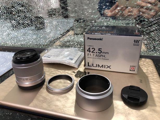 Lumix 42.5mm F1.7 ASPH  STABILIZACJA