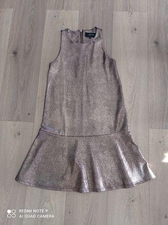 Sukienka Reserved S 36 różowe złoto