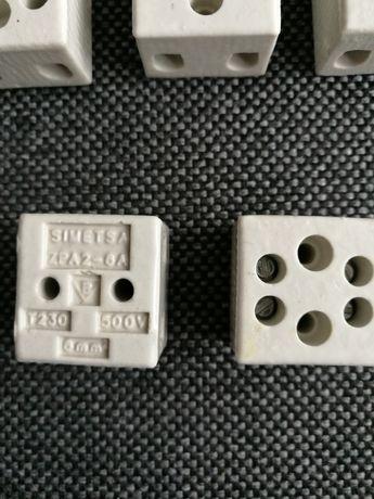 Ceramiczna kostka zaciskowa 6 mm