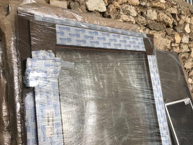 Окно ПВХ металлопластиковое, откидное с проветриванием, 910х2030х60мм