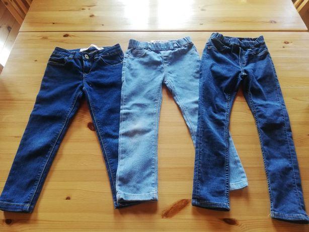 Spodnie miękki dżins, r. 110, różne, dziewczęce