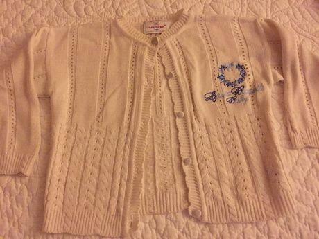 Casaco de algodão branco com bordado