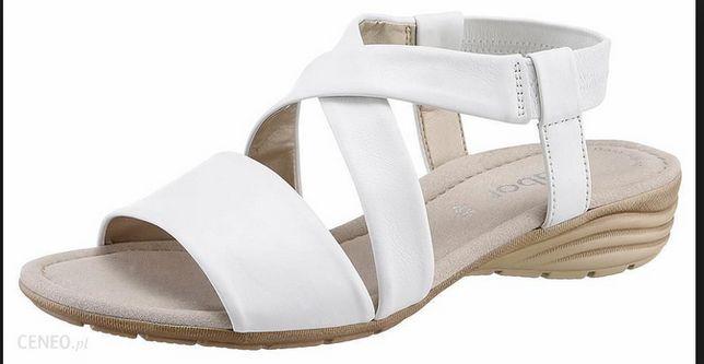 GABOR Skórzane sandały gladiatorki damskie jak nowe 36