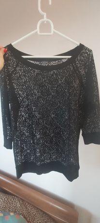 Bluzka koronkowa czarna