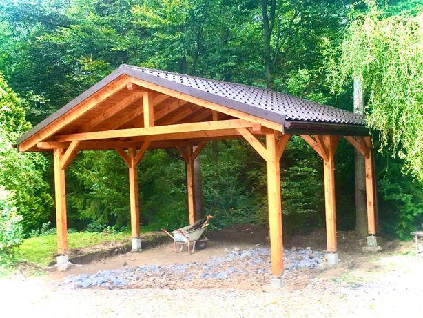 Wiata Zadaszenie Żaluzja drewniana.Altana, Garaż drewniany.Donice